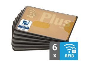 RFID Blocking Sleeves   6Pack   Sturdy Transparent Plastic   Credit Card Protector   Card Sleeve for Credit Card