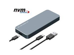 NVMe USB 31 Enclosure PCIe M2 SSD External Case NVi9 Aluminum Cooling Adapter 2280 2242 PCIe M2 Memory Card Reader NVMe Hard Drive Converter Caddy Box 10Gbps USB Type A and C Cable