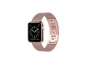 Compatible for Apple Watch Band 38mm Series 3 2 1 Stainless Steel Metal Loop Rose Gold iWatch Band 38mm Womens Bracelet Accessories Straps for Apple Watch Band 40mm Series 5 Series 4 Rose Gold