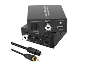 to Coaxial Coax to Digital Audio Converter BiDirectional Digital Audio Converter Splitter Adapter Plug and Play