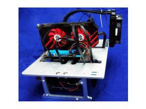 Mini ITX MATX Micro ATX PC Test Bench Open Frame Water Cooling Aluminum Case USB 30 DIY Bare Overclocking HTPC Support Graphics Card