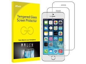 Screen Protector for iPhone SE 2016 (Not for 2020), iPhone 5s, iPhone 5c and iPhone 5, Tempered Glass Film, 2-Pack