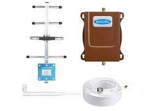 Cell Phone Signal Booster 4G LTE ATT Cell Phone Booster Cell Signal Booster Band12 /17 US Cellular Cricket T-Mobile ATT Signal Booster Amplifier Repeater Cell Extender Boost 4G Voice+Data