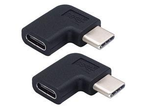90 Degree Type C USB Adapter Gen 2 10Gbps 3A Left amp Right 90 Degree USB 31 Type C Male to Female Convertor Compatible MacBook Pro Samsung DeX Station Galaxy S9S9+ etc2PackLeftRight