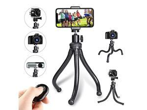 TripodPortable and Flexible Tripod Stand with Wireless Remote and Cell TripodCompatible with iAndroid CameraSports Camera GoPro