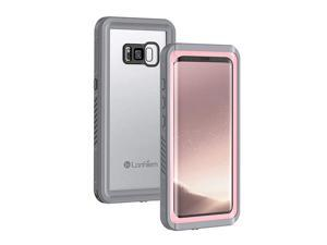 Galaxy S8 Case IP68 Waterproof Dustproof Shockproof Case with Builtin Screen Protector Full Body Sealed Underwater Protective Cover for Samsung Galaxy S8 Pink