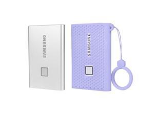 Silicone Protective Cover for Samsung T7 Touch Portable SSD  500GB1TB 2TB External Solid State Drives Purple