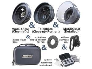 VISIO PRO Ultra Low Distortion Lens Set for Any Smartphone Phone Lens Attachment