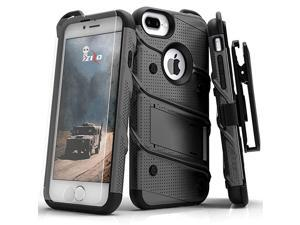 Bolt Series for iPhone 8 Plus CaseiPhone 7 Plus Case Military Grade Includes Glass Screen Protector Belt Holster Clip Lanyard Gunmetal Gray