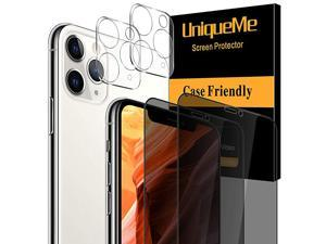 4 Pack]  Screen Protector Compatible with iPhone 11 Pro Max (6.5 inch) [Not for iPhone 12 Pro Max], 2 Pack Privacy Tempered Glass and 2 Pack Camera Lens Protector - Precise Cutout
