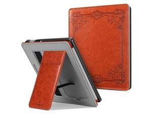 Stand Case for AllNew Kindle Oasis 10th Generation 2019 Release and 9th Generation 2017 Release Premium PU Leather Sleeve Cover with Card Slot and Hand Strap Vintage Brown