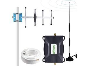Cell Phone Signal Booster 4G LTE Signal Booster ATT Cell Phone Booster Extender US Cellular Band12/17 ATT Cell Signal Booster T-Mobile Cellular Booster Amplifier Repeater for Home House