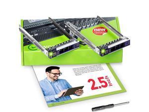 2Pack 25 inch Hard Drive Caddy Compatible for Dell PowerEdge Servers 14th Gen R340 R440 R540 R640 R740 R740xd R840 R940 R6415 R7415 R7425 SSD SAS SATA NVMe Tray Setup Manual