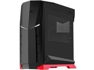Technology ATX Tower Case 90 Degree Motherboard Rotation with Window Black amp Red CSRVX01BRW