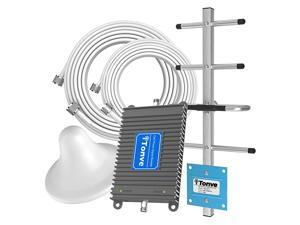 ATT Cell Signal Booster Band 1217 700Mhz 4G LTE Cell Phone Booster ATT Home Cell Phone Booster Repeater  ATT Signal Booster Mobile Signal Booster Amplifier with Ceriling+Yagi Antenna Kit