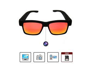 Smart Glasses 1080p HD Video Camera Glasses for Recording Sports and Outdoor Activities Sunglasses with Camera Stylish UV Protection Sunglasses Comes with Free 16GB MicroSD Card