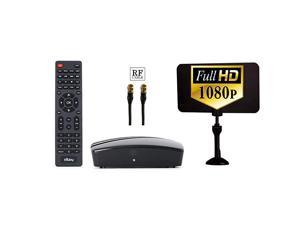 Digital Converter Box for TV Digital Antenna RF amp RCA Cable Complete Bundle to View and Record HD Channels Instant or Scheduled Recording 1080P HDTV HDMI Output amp 7 Day Program Guide