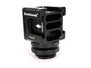 Hot Shoe Camera Mount Adapter Aluminium Quadruple Cold Shoe Adapter for Lights LED Monitors MicrophonesFR04 Hot Shoe