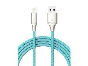 iPhone Charger 6ft Apple MFi Certified Lightning Cable iPhone Charger Cable Metal Connector Durable Braided Nylon HighSpeed Charging Cord for iPhone 11XXS MaXR8 Plus765 iPad Blue