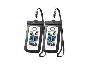 Universal Waterproof Case 2 Pack Cell Phone Pouch Dry Bag Compatible for iPhone 11 Pro Max iPhone SE 2020 iPhone X XR XS 8 Plus 7 6S 6 5 Samsung Galaxy S20 S10 S9 S8 Plus Note 8 S7 Edge S6