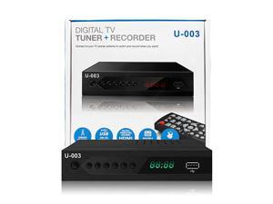 Analog to Digital TV Converter Box -  U-003 Set-Top Box/ TV Box/ ATSC Tuner for 1080P HDTV with TV Tuner, EPG, PVR Recording&Playback, USB Media Player, Parental Controls, HDMI, Timer, Clock