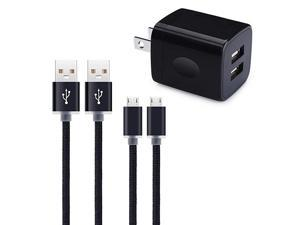Micro USB Wall Charger  Micro USB Cable 6ft Android Phone Cord with Dual Port USB Charger Plug Charging Block for Samsung Galaxy S7 S6 J8 J7 J6 J5 LG K50 K40 K30 K20 Stylo 3 2 Moto E6s E5 G5