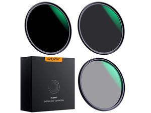 77mm Lens Filter Set Neutral Density ND8 ND64 CPL Circular Polarizer for Professional Camera Lens with Multiple Layer Nano Coated