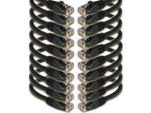 25 Cat5e Network Ethernet Patch Cable 10 Pack Black IMBACAT525BK10PK
