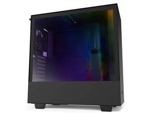 H510i - CA-H510i-B1 - Compact ATX Mid-Tower PC Gaming Case - Front I/O USB Type-C Port - Vertical GPU Mount - Tempered Glass Side Panel - Integrated RGB Lighting - Black