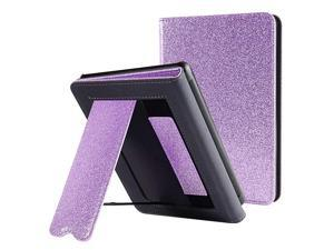 Kindle Paperwhite Case with Stand Durable PU Leather Smart Cover with Auto Sleep Wake Hand Strap Feature ONLY Fits All New Kindle Paperwhite 10th Generation 2018 ReleasedPurple Glitter