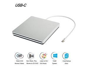 External DVD CD Drive USB30  USB C Super Drive External DVD CD+RW Burner Writer Optical Drive Compatible for with MacMacBook ProAiriMacLaptopDesktop PCWindows 78110 Silver