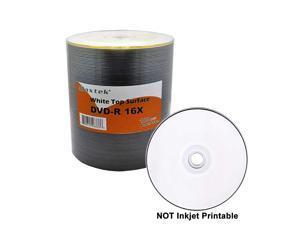 Premium Grade White Top Surface DVDR DVDR 16x Blank Disc 47GB 120min 100 Pcs Pack