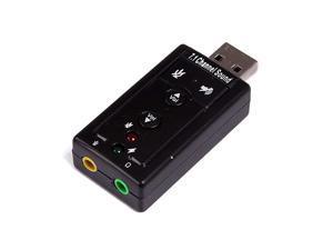 USB 71 Channel USB External Sound Card Audio AdapterSound Card Black