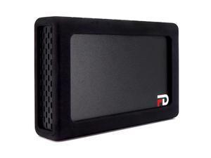 FD Duo Mobile 2 Bay RAID Aluminum Enclosure Silicone Black Bumper AddOn DMR000ERB by