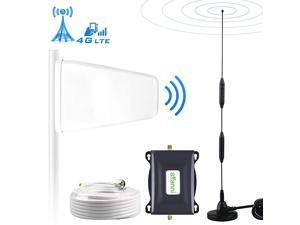 Cell Phone Signal Booster 4G LTE T-Mobile US Cellular Band12/17 FDD ATT Cell Signal Booster Cell Phone Booster ATT Signal Booster Amplifier Repeater Cell Extender Boost Voice+Data for Home