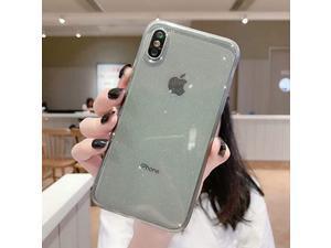 iPhone XR Case Glitter Clear Glitter Sparkle Bling Case AntiShock Matte Edge Bumper Design Cute Slim Soft Silicone Gel Phone Case Compatible for Apple iPhone XR 61Black
