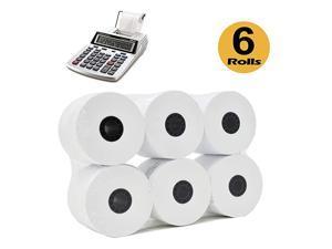 Rolls 2 14 x 150 ft White adding machine tape Paper Rolls Premium One Ply Cash RegisterAdding MachineCalculator Roll Printing Calculator 10 key adding machine tape