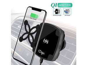 10W75W QI Car Charging Mount Magnetic Wireless Car ChargerAir Vent Phone Holder Wireless Charging Compatible for Phone 1111 Pro11 MaxXsXS Max Samsung Galaxy S10 S10 PlusS9S9