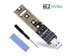 M2 NVME USB 31 Adapter MKey M2 NGFF NVME to USB Card High Performance 10 Gbps USB 31 Gen 2 Bridge Chip Support 2230 2242 2260 2280 Size SSD