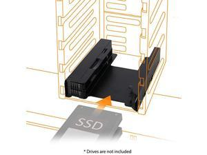 Dual 25quot HDD amp SSD Full Metal Mounting Bracket for Internal 35quot Drive Bay with Cables EZFit PRO MB082SP1