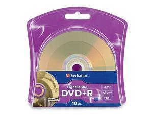 16x DVD+R LightScribe Blank Media 47GB120min 10 Pack 96943