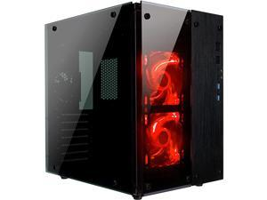 CULLINAN PX Tempered Glass Full Window Desktop PC Computer Small Form Case Red LED Lighting Fans USB 30 240mm Water Cooler Support 3 Fans PreInstalled