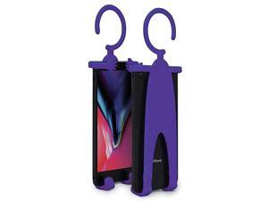 """Plus Flex Phone Holder and Stand - Adjustable Flexible Silicone Case Hanging Mount for Car Bike and Desk up to 6.75"""" Large Cell Phones - iPhone Xs XR 11 SE - Samsung Galaxy S10 S20 – Purple"""