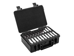 Hard Drive Case 20Bay MultiProtection HDD Storage Box Suitcase with Foam AntiStatic Shock Moisture Proo for WD Seagate Toshiba 35 HDD
