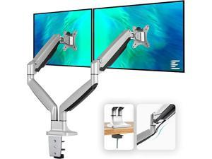 Dual Monitor Mount Stand Full Motion Swivel Gas Spring LCD Arm Fits for 2 Computer Screens 13 to 32 inches Each Arm Holds up to 198 lbs