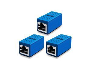 Pack RJ45 Coupler Ethernet Connectors for Cat7Cat6Cat5ecat5 Ethernet Cable Extender Connector Female to Female Blue
