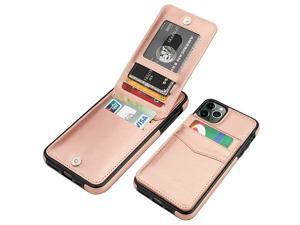 iPhone 11 Pro Max Case Wallet with Credit Card Holder Premium Leather Magnetic Clasp Kickstand Heavy Duty Protective Cover for 11 Pro Max 65 InchRose Gold