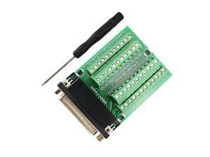 Bay DB44 Female Connector to Terminal Block D Sub HDB44 Breakout Board Signal Module