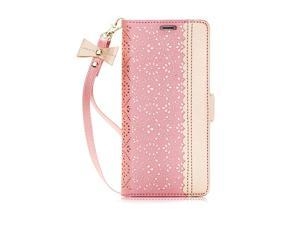 Note 8 Case Galaxy Note 8 Case  Mirror Series PU Leather Case Kickstand Flip Case with Card Slots and Mirror for Samsung Galaxy Note 8 Rose Gold