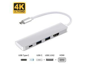 USB C HDMI Adapter  4 in 1 Type C Hub to HDMI Adapter USB to HDMI Adapter with Type C Port USB C to HDMI Adapter for MacBook Pro 202020192018